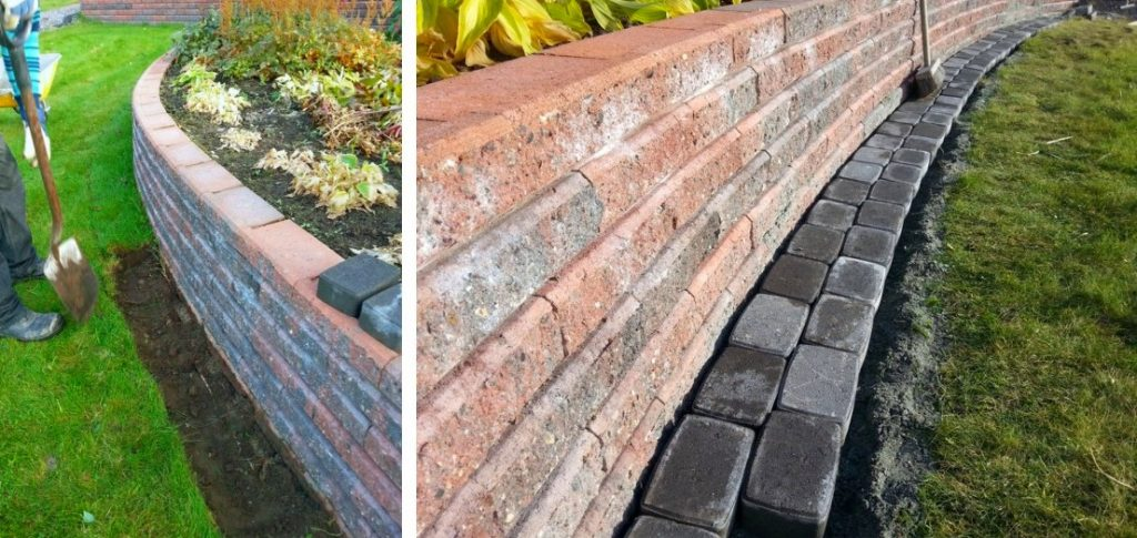 Kulmistaan pyöristetty klassikkokivi taipuu hyvin kaarevan muurin muotoon. Betonikiviraita helpottaa puolestaan osaltaan puutarhan hoitotyötä estäen heinätupsujen muodostumisen muurin reunaa vasten ruohonleikkuun jäljiltä.